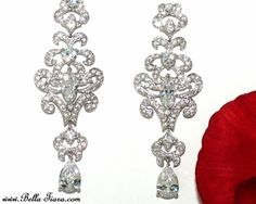 Dutchess - Royal Collection Vintage CZ bridal earrings - SPECIAL one left