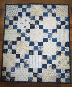 Kindred Quilts: April means. Simply Charming Every Other Month Mini Sew Along! Two Color Quilts, Blue Quilts, Scrappy Quilts, Easy Quilts, Small Quilts, Mini Quilts, Irish Chain Quilt, Red And White Quilts, Nine Patch Quilt