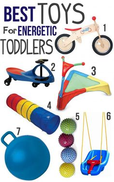 Best #toys for energetic toddlers from littlemissmomma.com