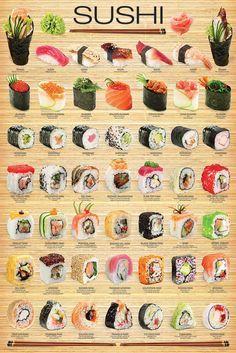 Eurographics Love Sushi Poster Cartaz, Sushi, 24x36, Modelo 2015, Multi-color, Sushi   Casa e jardim, Decoração para casa, Pôsteres e gravuras   eBay!