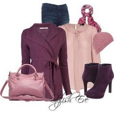 Winter Outfits for Women by Stylish Eve 18 20 Warm and Fashionable Winter Combinations Stylish Eve, Stylish Outfits, Cute Outfits, Purple Outfits, Work Outfits, Pretty Outfits, I Love Fashion, Womens Fashion, Fashion Trends