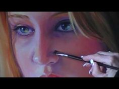 Gorgeous portraits...how the artist captures the luminosity of her skin and eyes is beautiful...