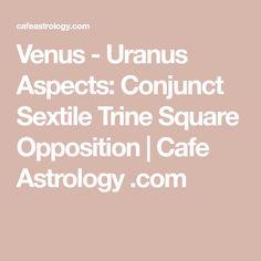 Venus - Uranus Aspects: Conjunct Sextile Trine Square Opposition | Cafe Astrology .com