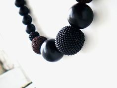 #Lava #statement #necklace wooden beads matte by juditpukkai Use coupon code on Etsy: PIN10 to get 10% discount :-) Beaded Jewelry, Handmade Jewelry, Unique Jewelry, Handmade Gifts, Wooden Beads, Pj, Coupon Codes, Lava, Crochet Necklace