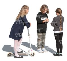 three cut out kids standing and playing