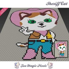 Looking for your next project? You're going to love Sheriff Cat C2C Crochet…