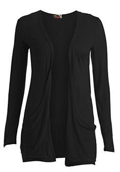 9402bbbe45 Ladies Long Sleeve Plain Printed Pocket Boyfriend Cardigan Womens Top Sizes  8-26