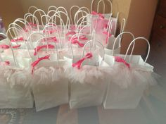 Tutu gift bags for ballerina party