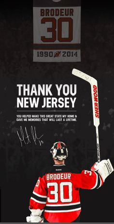 Martin Brodeur thanks Devils fans in full-page ad