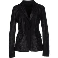 Emporio Armani Blazer ($1,140) ❤ liked on Polyvore featuring outerwear, jackets, blazers, black, emporio armani jacket, black blazer, pocket jacket, collar jacket and flap jacket