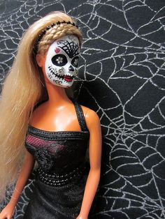 Dia de los Muertos Barbie Doll by CertainlyCephalopod.  I gotta have one. Better Barbie I have ever seen :)