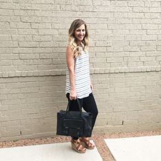 Simple Stripes Casual Outfit | http://apilotswife.com/simple-stripes/