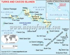 #TurksCaicosIslands Map