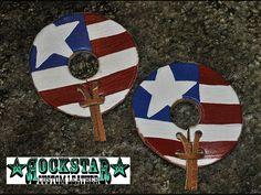 Rockstar Custom Leather American flag bit guards