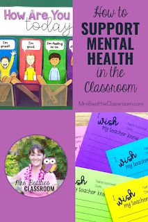 Mental health in the classroom is a growing concern. Support your students' mental health needs with the tips in this blog post and grab a FREE check-in station and printable. Classroom Board, Middle School Classroom, Primary Classroom, Elementary Teacher, Behavior Rewards, Behavior Management, Teacher Hacks, Teacher Pay Teachers, Teaching Kindergarten