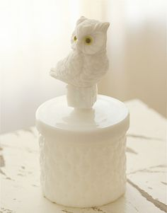 Owls AND milk glass! YES!