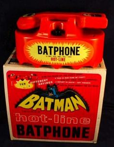 BatPhone made by Louis & Marx Vintage Toys 1960s, Retro Toys, Vintage Ads, Batman Tv Show, Batman Tv Series, Batgirl And Robin, Batman Robin, Batman 1966, Batman And Superman