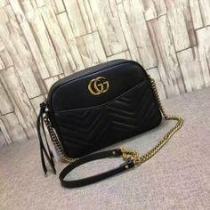 Gucci GG Marmont matelassé shoulder bag black 443499