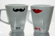 Love these coffee cups!!!!!  So cute wanna buy a set for myself and lots of extras!