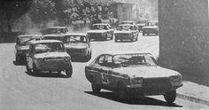 """No início da prova e depois da passagem dos mais rápidos o Ford Capri de António """"Tony"""" Santos Mendonça, comanda o pelotão."""