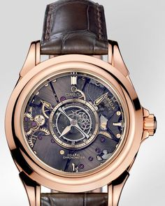 OMEGA Watches: De Ville Tourbillon Co-Axial Numbered Edition 38.7 mm - Red gold on leather strap - 513.53.39.21.99.001
