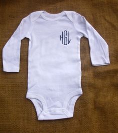 Monogram Onsie by CangialosiSpecialty on Etsy