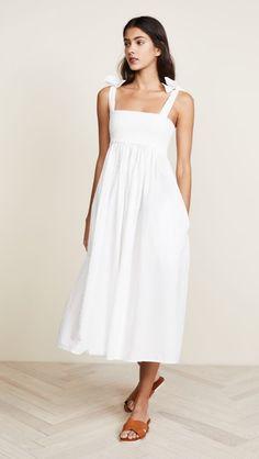 23bd8278e5 Bow Shoulder Smocked Dress Casual Dresses