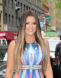 khloe kardashians hair color | NEW YORK, NY - MAY 29: Television Personality Khloe Kardashian Odom is ...