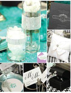 #Teal, #Black and #White #theme #ideas to match your #weddinginvitations. #Wedding http://foreverfriendsfinestationeryandfavors.com