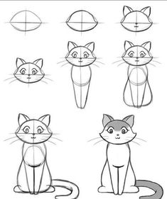 How To Draw Easy Animals Step By Step Image Guide - . - How To Draw Easy Animals Step By Step Image Guide – # Source by alanaraquels Cat Drawing Tutorial, Sketches, Easy Drawings, Art Drawings, Drawings, Doodle Art, Drawing Tutorial Easy, Drawing For Kids, Art Tutorials