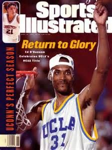 Ed O'Bannon - on cover of Sports Illustrated after winning the 1995 championship.
