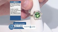 Tsavorite & Diamond 14K Yellow  Gold Ring Size 7.  Tune into the most exquisite jewelry on television 24/7! New jewelry arriving daily – Blue Sapphire Necklaces, Red Ruby Rings, Green Emerald Earrings, Yellow Diamond Bracelets and more stunning jewelry at Gem Shopping Network. Call in for pricing.   Item #111-880319 Garnet And Diamond Ring, Garnet Gemstone, Gemstone Colors, Gemstone Jewelry, Blue Sapphire Necklace, Emerald Green Earrings, Jewelry Shop, Fine Jewelry, Ruby Rings