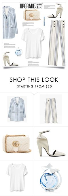 """""""My Mood Today"""" by lidia-solymosi ❤ liked on Polyvore featuring MANGO, Gucci, Calvin Klein 205W39NYC, Thierry Mugler and Estée Lauder"""