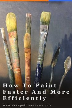 Fast painting Tips - 5 Tips For Painting Faster And More Efficiently. Simple Oil Painting, Acrylic Painting For Beginners, Acrylic Painting Lessons, Acrylic Painting Techniques, Artist Painting, Art Techniques, Painting & Drawing, Abstract Paintings, Art Paintings