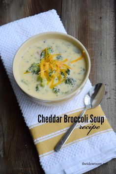 Cheddar Broccoli Soup Recipe | theidearoom.net