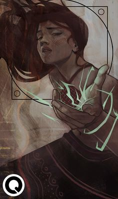 "Lavellan tarot commission loosely based on 'The Devil' :D ""E-mail me at qkhalidah@gmail.com to reserve a commission spot! """