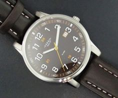Ferro Jewelers - Watches   MENS ESPRESSO EASY READER WATCH WITH LEATHER WATCH STRAP