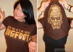 Ask Me If I've Seen BigFoot T-Shirt Funny Sasquatch Big Foot Hunter Costume Geekery Halloween Flip Tee Shirt Tshirt Mens Womens KIDS S-5XL on Etsy, $14.95
