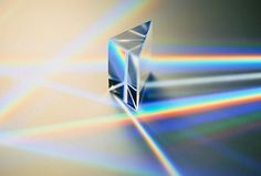 Light refraction prisms and rainbows and color