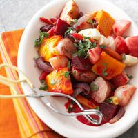 Crock-Roasted Root Vegetables Recipe-I've never tried doing veggies like this in the crock~gonna give it a shot!