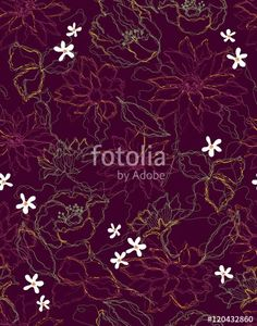 ベクター: The repeat design / Elegance flower pattern design illustration点