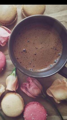 Chocolate y macarons