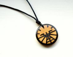 Aviation Attitude Indicator Necklace Mens Unisex by IntheWitchwood