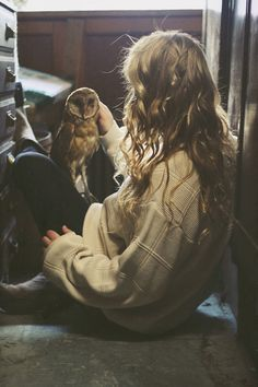 Omg, can I have a pet owl, please? I know I'd probably need a special license, but I'm really into the idea.
