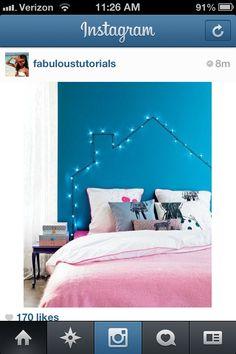 super cute bedroom idea!