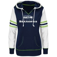 Women's Majestic College Navy Seattle Seahawks Sweet Signal Dolman ...