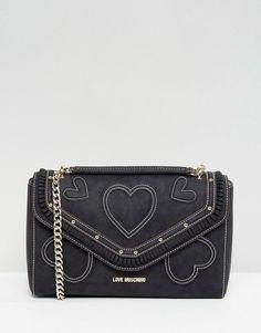 Love Moschino Suede Heart Shoulder Bag - $274