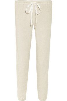 Clu Drawstring cotton and cashmere-blend terry track pants