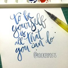 To be Yourself is All That You can Do #audioslave #musica #music #frases #caligrafia #freehand #typespire #goodtype #type #thedailytype #handlettering #lettering #typography #calligraphy #calligraphymasters #typeveryday #handmadefont #50words #design #handmade #art #customtype #handtype #inspiration #typism #graphicdesign #typostrate #followme #brushpen #poster