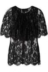 DOLCE & GABBANA Layered scalloped lace top Black $1650  http://hollyrotic.mybigcommerce.com/dolce-gabbana-layered-scalloped-lace-top-black-1650/